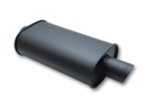 "Vibrant Performance - STREETPOWER FLAT BLACK Oval Muffler (2.5"" inlet)"