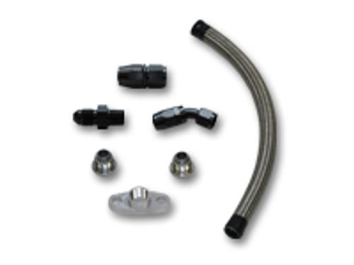 "Vibrant Performance - Universal Oil Drain Kit for T3/T4 Turbos (12"" long line)"