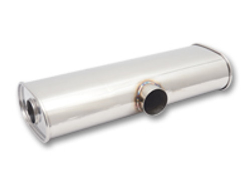 """Vibrant Performance - STREETPOWER Muffler, 2.5"""" side inlet x dual 2.25"""" outlets"""