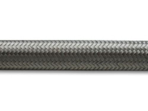 """Vibrant Performance - 10ft Roll of Stainless Steel Braided Flex Hose; AN Size: -6; Hose ID 0.34"""""""