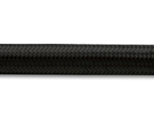 "Vibrant Performance - 2ft Roll of Black Nylon Braided Flex Hose; AN Size: -10; Hose ID: 0.56"""