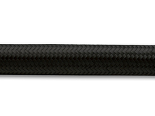 "Vibrant Performance - 10ft Roll of Black Nylon Braided Flex Hose; AN Size: -10; Hose ID: 0.56"";"