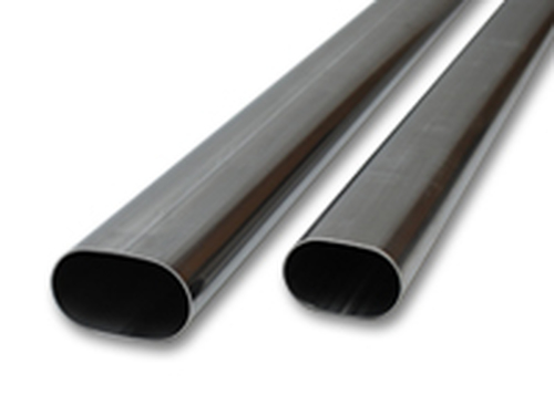 """Vibrant Performance - 3.5"""" Oval (nominal) T304 Stainless Steel Straight Tubing - 5 feet long"""