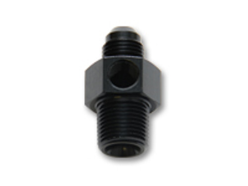 """Vibrant Performance - -8AN Male to 1/4"""" NPT Male Union Adapter Fitting with 1/8"""" NPT Port"""