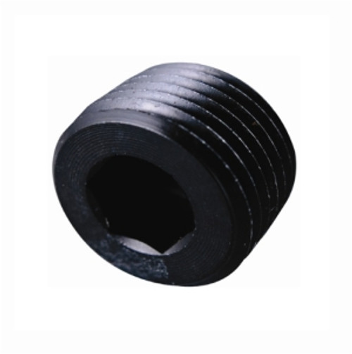 Fragola - 1/8 Npt Pipe Plug-Internal  Black