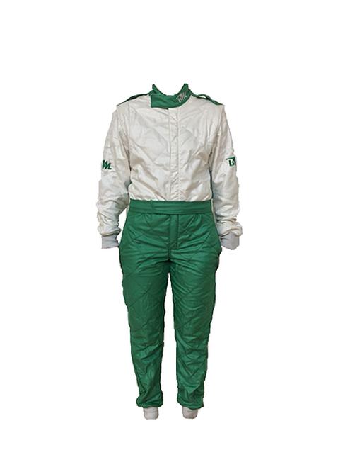 BridgeMoto Dori Dori Green FIA Three Layer Suit