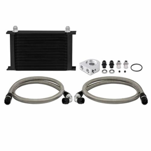 Mishimoto - Universal Thermostatic 10 Row Oil Cooler Kit, Black