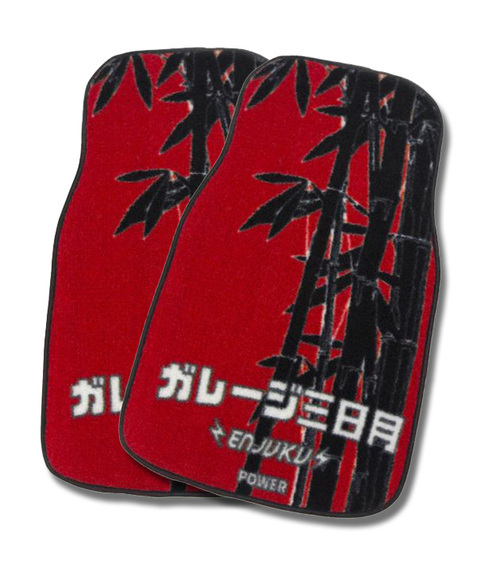 Garage Moon Power X Enjuku Racing Collaboration Floormats - Red