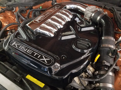 Kinetix Gloss Black Polycarbonate Engine Cover - Velocity Manifold - 350Z / G35