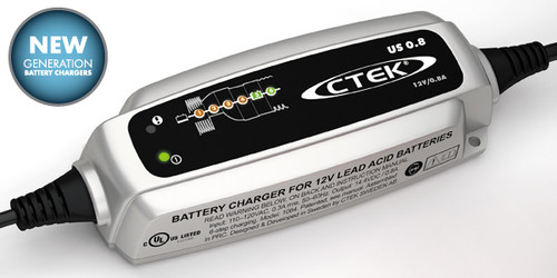 CTEK US 0.8 - Small and Versatile Automatic Battery Charger