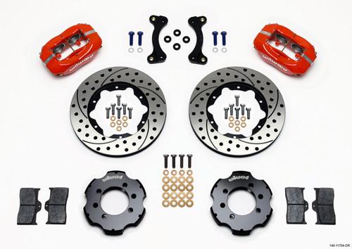 "Wilwood Red Dynalite 4 Piston Big Brake Kit Mazda Miata - Front 11.00"""