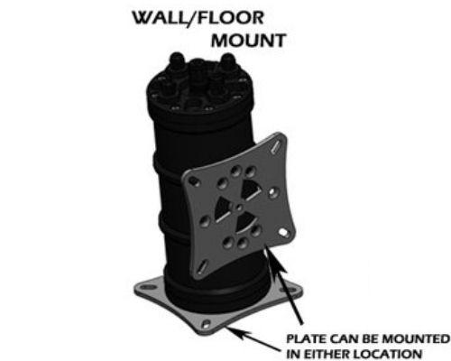 Radium FUEL SURGE TANK MOUNTING BRACKET, UNIVERSAL WALL/FLOOR STANDARD MOUNT