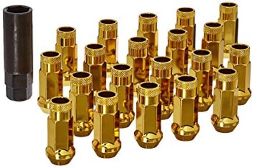 Muteki SR48 Yellow Chrome Open End Lug Nuts 12x1.25 (Gold)
