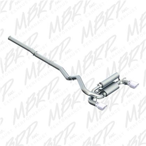 """MBRP XP Series 3"""" Cat Back Dual Split Rear Exit Exhaust for Ford Focus RS '16+"""