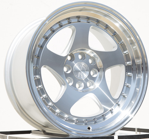 AODHAN Wheels AH01 16x8 +15 4x100/114.3 Silver Machined Face And Lip