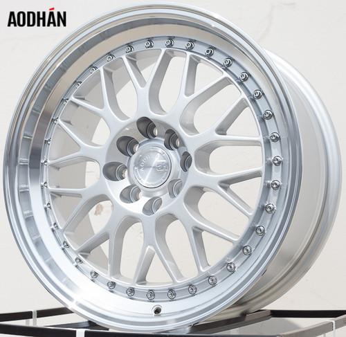 AODHAN Wheels AH02 17x8 +35 4x100/114.3 Silver Machined Lip