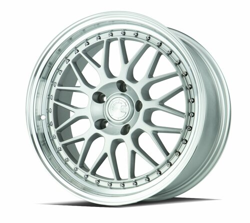 AODHAN Wheels AH02 18x8.5 +35 5x120 Silver Machined Lip