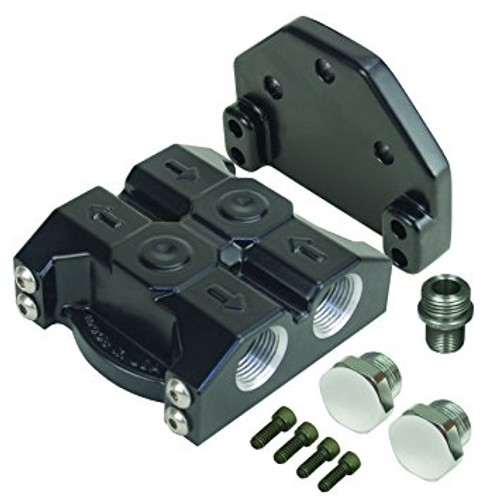 Derale - Remote Oil Filter Mount Premium -10AN Inlet and Outlet