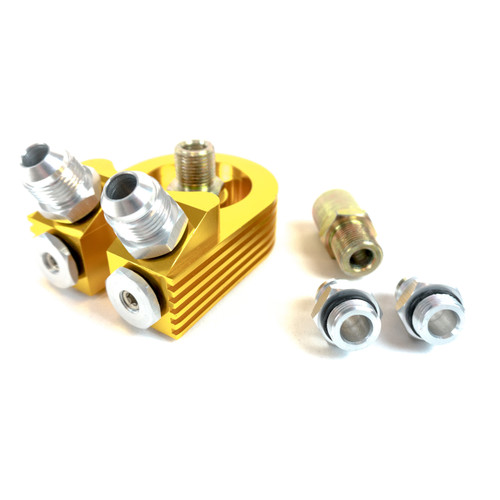 IS-9070H-GD ISR Performance Oil Sandwich Adapter - Angled