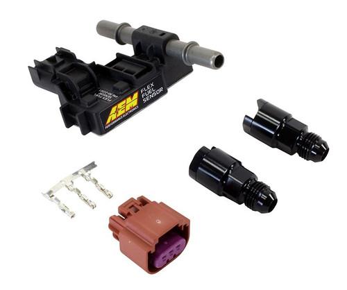 AEM Flex Fuel Sensor Kit -6AN to 3/8 Adapter Fittings