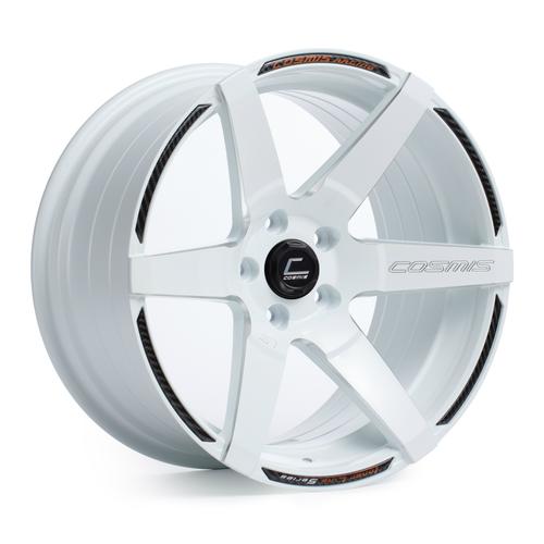 Cosmis Racing S1 White w/ Milled Spokes 18x9.5 +15mm 5x114.3 Wheel