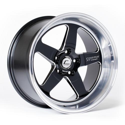 Cosmis Racing XT-005R Wheel Black w/ Machined Lip & Milled Spokes 18x10 +20mm 5x114.3
