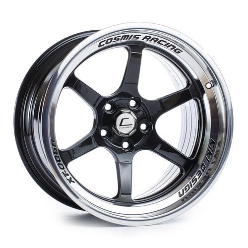 Cosmis Racing XT-006R Black w/ Machined Lip Wheel 18x9.5 +10mm 5x114.3