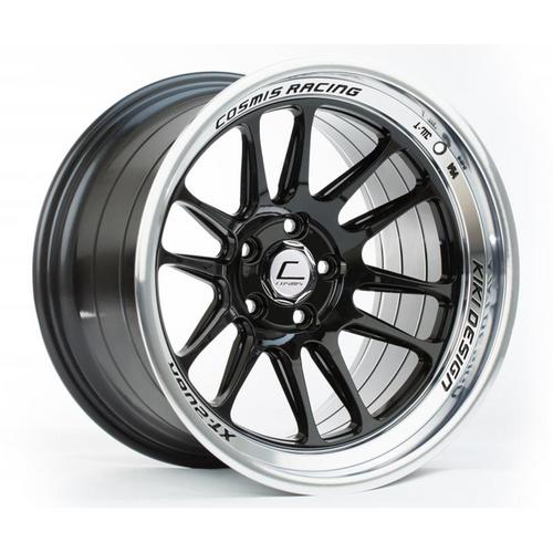 Cosmis Racing XT-206R Black w/ Machined Lip Wheel 17x9 +5mm 5x114.3