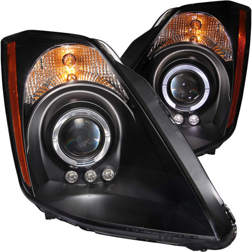 Anzo Projector Headlights Halo Black for Nissan 350Z