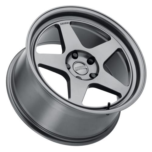 Kansei Wheels Knp Gunmetal 18X9 5X114.3 +12