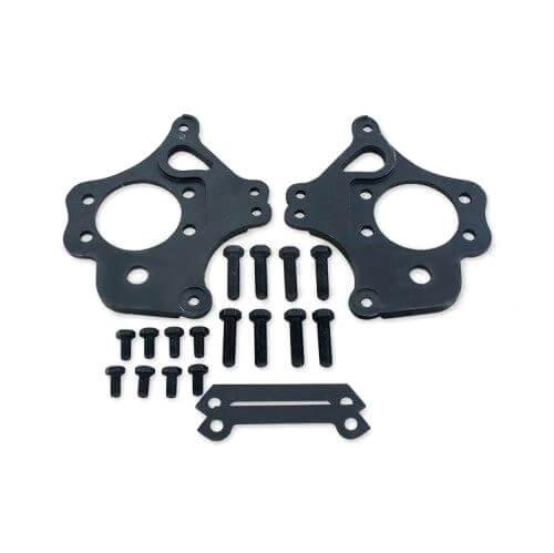 GKTECH 2 pot Nissan dual caliper brackets (pair) Nissan S13/14/15 R32