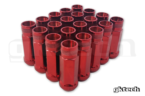 GKTECH Red - Open ended lug nuts (pack of 20)