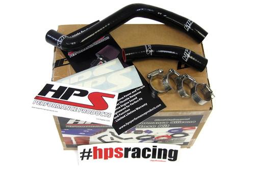HPS Performance Black Reinforced Silicone Radiator Hose Kit for Honda 97-99 CR250R 2 Stroke