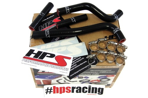 HPS Performance Black Reinforced Silicone Radiator Hose Kit for Honda 07-12 CRF150R