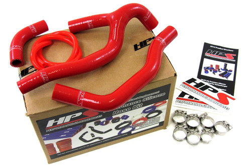 HPS Performance Red Reinforced Silicone Radiator Hose Kit Coolant for Honda 05-08 CRF450R
