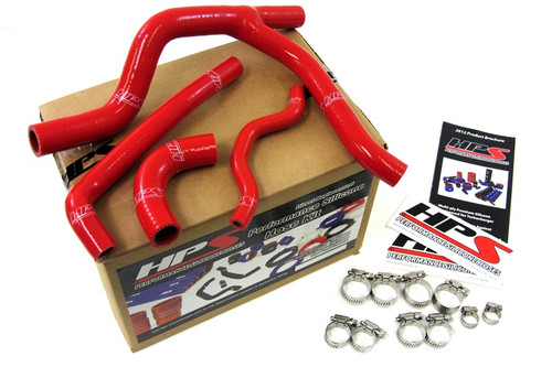 HPS Performance Red Reinforced Silicone Radiator Hose Kit Coolant for Kawasaki 06-08 KX250F