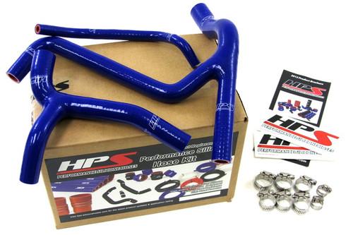 HPS Performance Blue Reinforced Silicone Radiator Hose Kit Coolant for Kawasaki 2009 KX450F