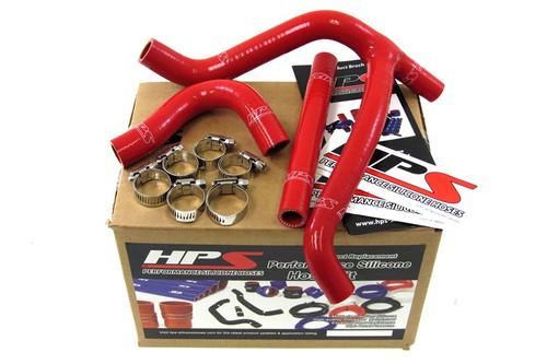 HPS Performance Red Reinforced Silicone Radiator Hose Kit Coolant for Suzuki 06-07 RMZ450