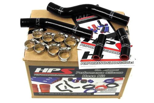 HPS Performance Black Reinforced Silicone Radiator Hose Kit Coolant for Yamaha??í07-09 WR450F
