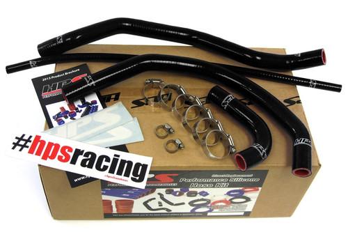 HPS Performance Black Reinforced Silicone Radiator Hose Kit for Yamaha 87-06 YFZ350 Banshee