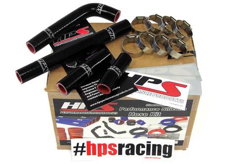 HPS Performance Black Reinforced Silicone Radiator Hose Kit for Yamaha 00-02 YZ426F WR426F