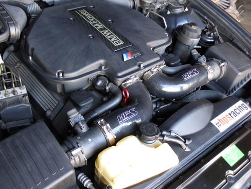 HPS Performance Silicone Post MAF Dual Air Intake Tubes Kit Black 5.0L V8 for BMW 98-03 M5 E39