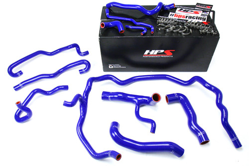 HPS Performance Blue Reinforced Silicone Radiator + Heater Hose Kit Coolant for BMW 04-05 530i E60 Left Hand Drive