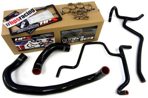 HPS Performance Black Reinforced Silicone Radiator Hose Kit for Dodge 2010 Charger SRT8 6.1L V8