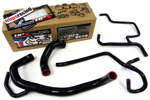 HPS Performance Black Reinforced Silicone Radiator Hose Kit for Dodge 12-13 Charger SRT8 6.4L V8