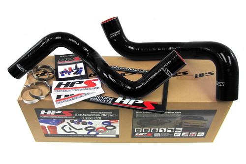 HPS Performance Black Reinforced Silicone Radiator Hose Kit Coolant for Dodge 96-02 Viper