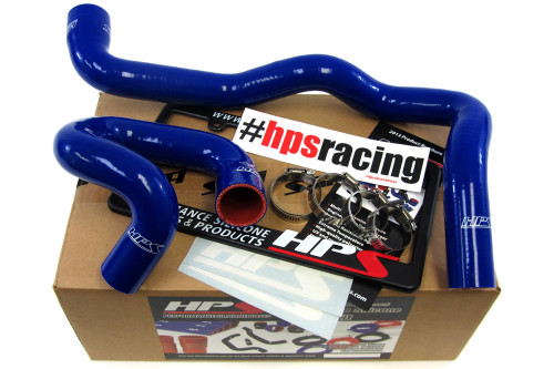 HPS Performance Blue Reinforced Silicone Radiator Hose Kit Coolant for Ford 13-14 Focus ST Turbo 2.0L