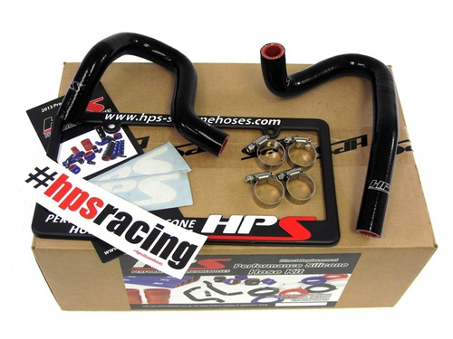 HPS Performance Reinforced Black Silicone Heater Hose Kit Coolant for Hyundai 10-14 Genesis Coupe 2.0T Turbo 4Cyl