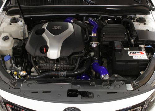 HPS Performance Blue Reinforced Silicone Intercooler Hose Kit for Kia 11-15 Optima 2.0L Turbo