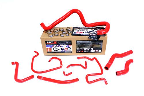 HPS Performance Reinforced Red Silicone Radiator Hose Kit Coolant for Mazda 06-14 Miata 2.0L